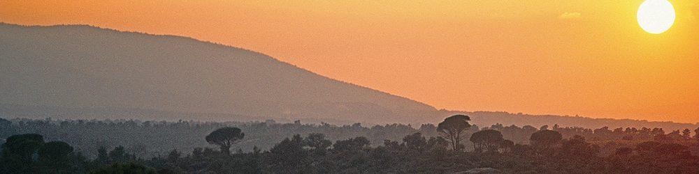 Coucher de soleil sur les Maures ...